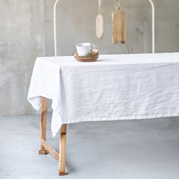 notPERFECTLINEN Table cloth linen white (2,5m. x 1,38 m.)