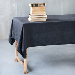notPERFECTLINEN Table cloth linen black (2,5m. x 1,38 m.)