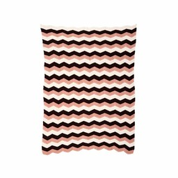 Ferm Living Blanket * Zigzag Pink (80 x 100 cm.)