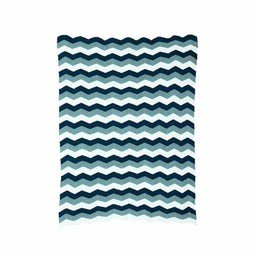 Ferm Living Blanket * Zigzag Blue (80 x 100 cm.)