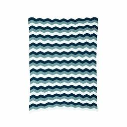 Ferm Living Deken * Zigzag blauw (80 x 100 cm.)