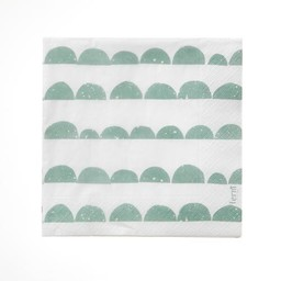 Ferm Living Napkins Half moon Mint