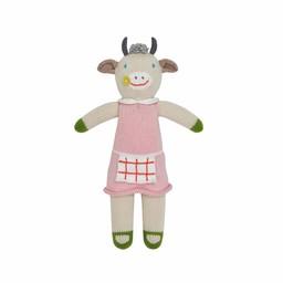 BlaBla Kids Gebreide knuffel koe Claire