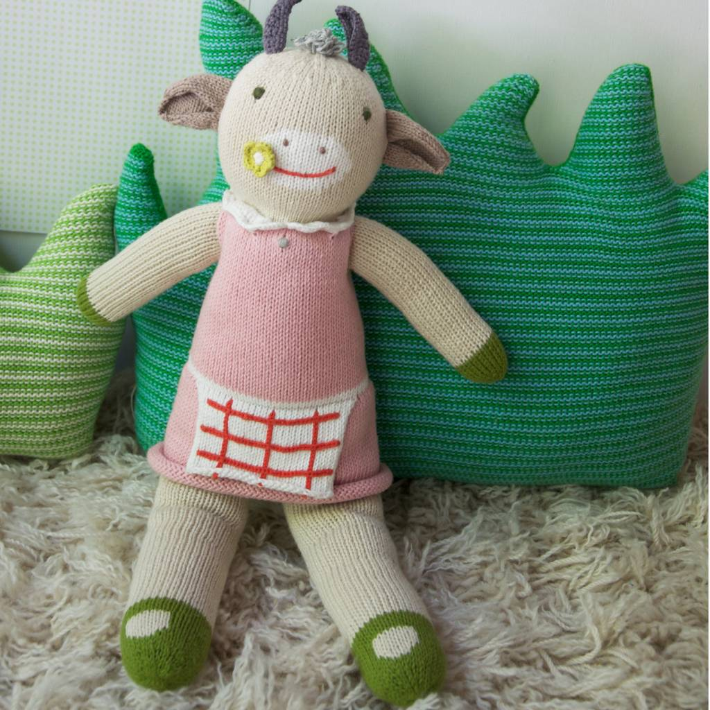BlaBla Kids Knitted doll Cow Claire