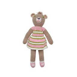 BlaBla Kids Knitted rattle doll bear girl