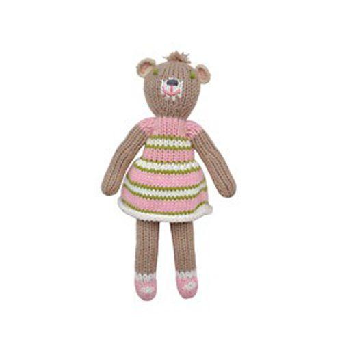 BlaBla Kids Knitted rattle doll bear girl