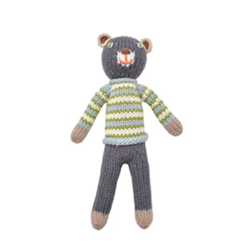 BlaBla Kids Knitted rattle doll bear boy