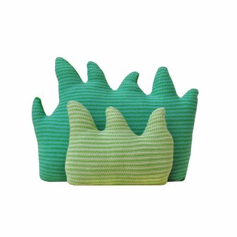 BlaBla Kids Knitted pillow set Grass