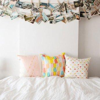 Avril Loreti Throw Pillow Stripe Surprise