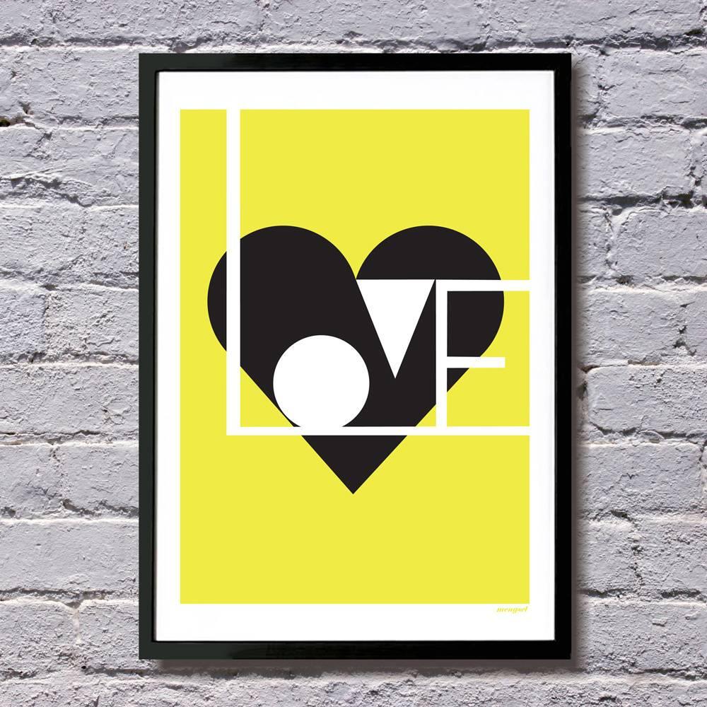Lu West Giclée print Love lime