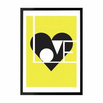Lu West Giclée print Love limoen
