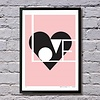 Lu West Giclée print Love roze