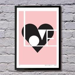 Lu West Giclée print * Love pink