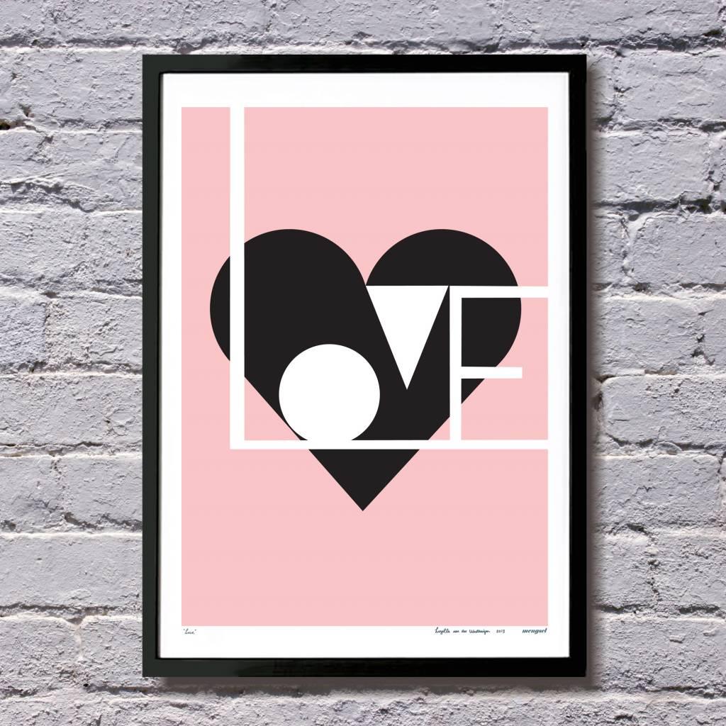 Lu West Giclée print Love pink