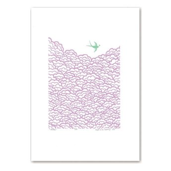 Lu West Limited screen print Swallow