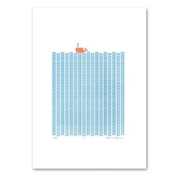 Lu West Limited screen print Orange whale