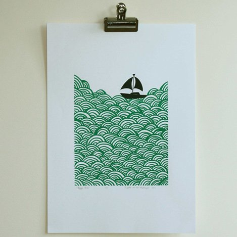 Lu West * Giclée print * Bigger boat