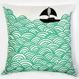 Lu West Throw Pillow * Bigger Boat