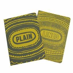 Sukie Notebook * lined plain geel