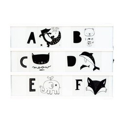 a little lovely company Woondecoratie * Light Box letterset KIDS ABC Black & white