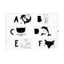 a little lovely company Woondecoratie * Light Box letterset KIDS ABC Black & white