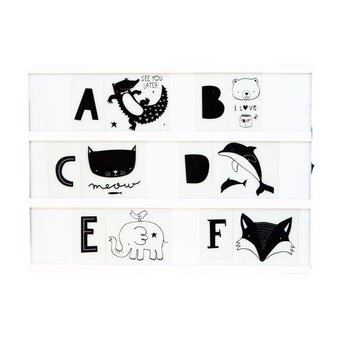 a little lovely company * Home decoration * Lightbox letterset ABC monochrome