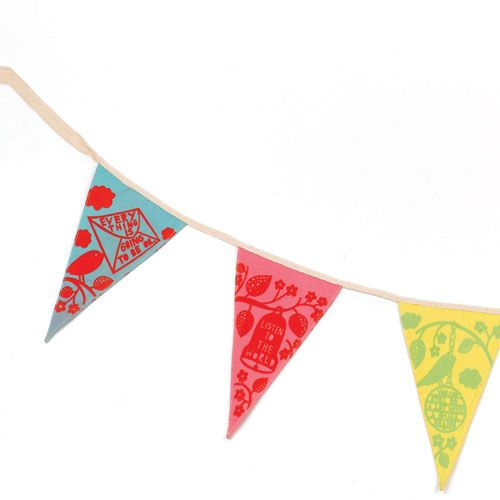 Wild & Wolf * Bunting * Rob Ryan - Sentimental words