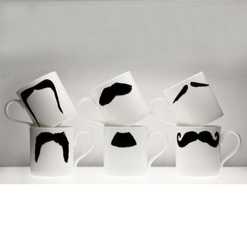 Peter Ibruegger * Mug * Moustache Maurice - Poirot