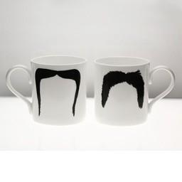 Peter Ibruegger Big Mug * Moustache Fu - Magnum