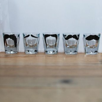 Peter Ibruegger *  Shot glasses * Moustache