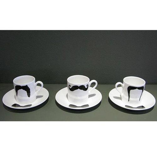 Peter Ibruegger Peter Ibruegger * Espresso Cup & Sauceer * Moustache Fu - Magnum