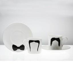 Peter Ibruegger Peter Ibruegger * Espresso Cup & Saucer * Moustache Fu - Magnum