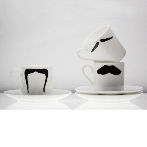 Peter Ibruegger Espresso kop en schotel Snorren Fu - Magnum