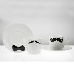 Peter Ibruegger Espresso kop en schotel * Snorren Maurice - Poirot