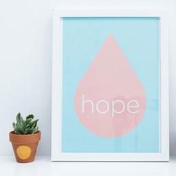 Zilverblauw Print * Hope