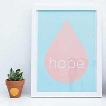 Zilverblauw Poster Hope