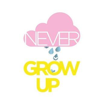 Zilverblauw * Print * Never grow up
