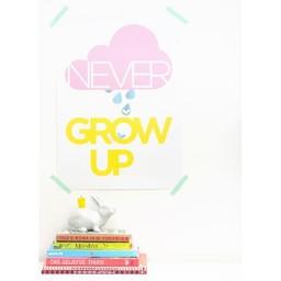 Zilverblauw Poster * Never grow up