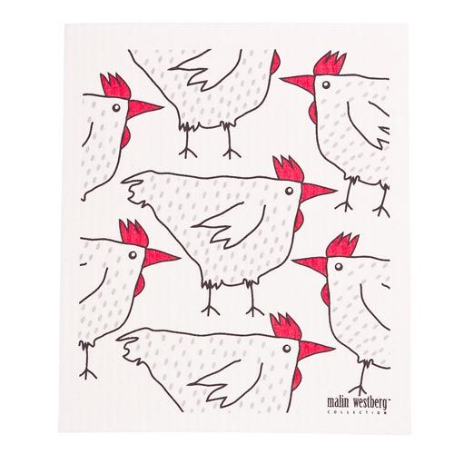 Malin Westberg Dishcloth * Roosters