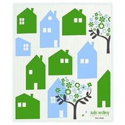 Malin Westberg Dishcloth * Stad - green & blue