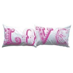 lush designs Kussenslopen Love roze