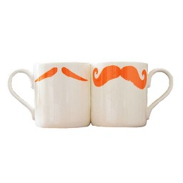 Peter Ibruegger Mug Moustache Maurice - Poirot - Orange