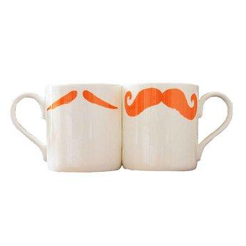 Peter Ibruegger Mug Moustache Maurice - Poirot - Orange