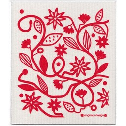 Jangneus Dishcloth Red Doodle