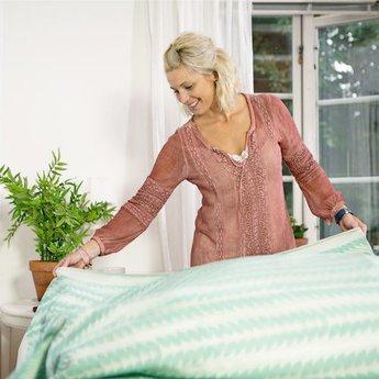 Ekelund Tafellaken Tinas Råg groen
