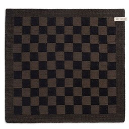 Knit Factory Knitted Kitchen Towel Blok Black & Khaki