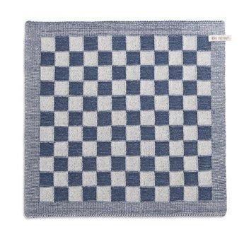 Knit Factory Gebreide Droogdoeken Blok Grijs