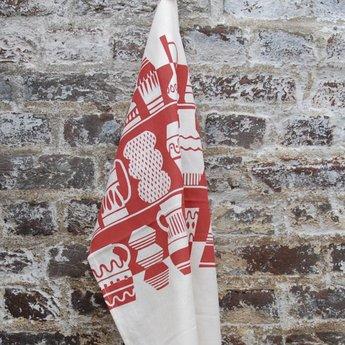 Skinny laMInx Tea towel Lava