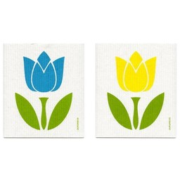 Jangneus Dishcloth Turquoise Tulips