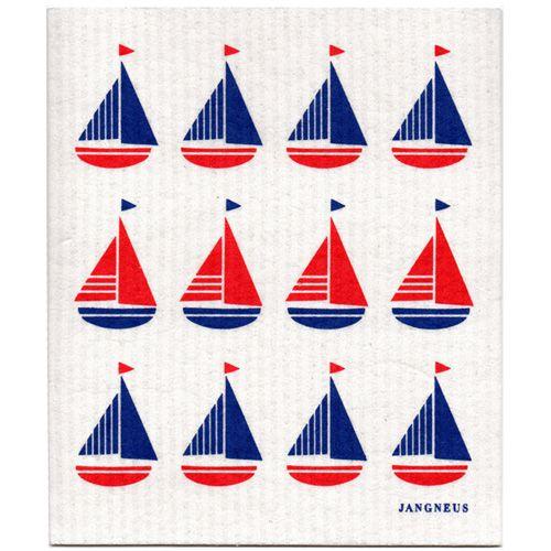 Jangneus Dishcloth Sailing boats